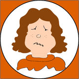 πρόσωπο λυπημένο ελεύθερη απεικόνιση δικαιώματος