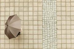 Πρόσωπο με την ομπρέλα Στοκ Φωτογραφίες