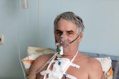 Πρόσωπο με τη μάσκα οξυγόνου Στοκ εικόνες με δικαίωμα ελεύθερης χρήσης