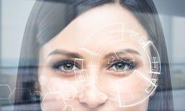 Πρόσωπο με το ψηφιακό σχέδιο Στοκ Φωτογραφία