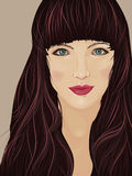 Πρόσωπο μιας όμορφης γυναίκας brunette Στοκ εικόνες με δικαίωμα ελεύθερης χρήσης