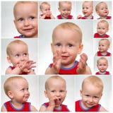 πρόσωπο μωρών αστείο Στοκ Εικόνες