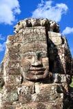 Πρόσωπο ναών Bayon Wat σε Angkor, Καμπότζη Στοκ Φωτογραφίες