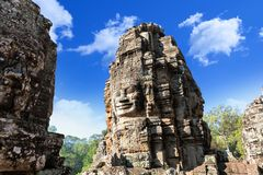 Πρόσωπο ναών Bayon Wat σε Angkor, Καμπότζη Στοκ Εικόνες