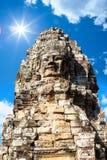 Πρόσωπο ναών Bayon Wat σε Angkor, Καμπότζη Στοκ φωτογραφίες με δικαίωμα ελεύθερης χρήσης