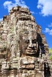 Πρόσωπο ναών Bayon Wat σε Angkor, Καμπότζη Στοκ Εικόνα