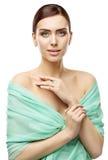 Πρόσωπο ομορφιάς γυναικών, φροντίδα δέρματος και Makeup, πορτρέτο νέων κοριτσιών στοκ φωτογραφίες