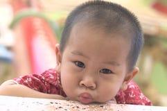 Πρόσωπο παπιών μικρών παιδιών Στοκ Φωτογραφίες