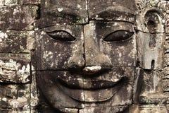 Πρόσωπο πετρών ναών Bayon λεπτομερώς, Angkor wat, έκκεντρο Στοκ εικόνα με δικαίωμα ελεύθερης χρήσης