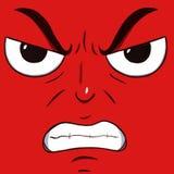 Πρόσωπο που απομονώνεται στο κόκκινο χρώμα Στοκ Φωτογραφίες