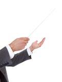 Πρόσωπο που κατευθύνει με το μπαστούνι ενός αγωγού Στοκ Φωτογραφία