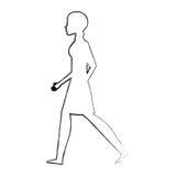 πρόσωπο που περπατά το απομονωμένο εικονίδιο Στοκ Εικόνα