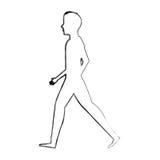 πρόσωπο που περπατά το απομονωμένο εικονίδιο Στοκ εικόνα με δικαίωμα ελεύθερης χρήσης