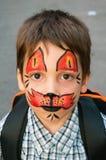 πρόσωπο που χρωματίζεται Στοκ Εικόνα