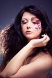 πρόσωπο που χρωματίζεται στοκ εικόνα με δικαίωμα ελεύθερης χρήσης