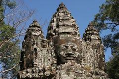 πρόσωπο πόθων angkor bayon σύνθετο wat Στοκ Εικόνα