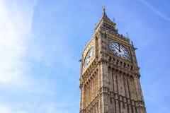 Πρόσωπο ρολογιών πύργων Big Ben Elizabeth, παλάτι του Γουέστμινστερ, Λονδίνο, UK Στοκ εικόνες με δικαίωμα ελεύθερης χρήσης