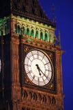 Πρόσωπο ρολογιών στον πύργο της Elizabeth (Big Ben), Λονδίνο Στοκ Εικόνες