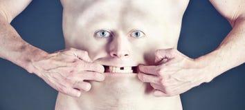 Πρόσωπο στην κοιλιά απεικόνιση αποθεμάτων
