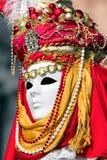 Πρόσωπο στη μάσκα στο καρναβάλι της Βενετίας Στοκ φωτογραφία με δικαίωμα ελεύθερης χρήσης