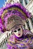 Πρόσωπο στη μάσκα στο καρναβάλι της Βενετίας 2018 Στοκ Εικόνα