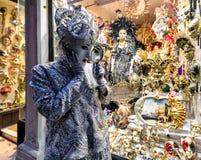 Πρόσωπο στο κοστούμι στη Βενετία καρναβάλι 2018 Στοκ Εικόνα