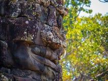 Πρόσωπο στο ναό Bayon, Angkor Thom Στοκ Φωτογραφία