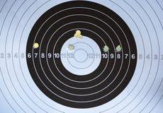 Πρόσωπο στόχων με γίνοντες τις κυνηγετικό όπλο τρύπες στοκ φωτογραφίες με δικαίωμα ελεύθερης χρήσης