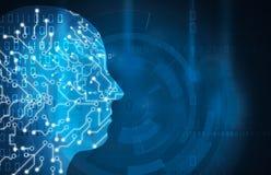 Πρόσωπο τεχνητής νοημοσύνης ελεύθερη απεικόνιση δικαιώματος