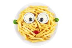 Πρόσωπο τηγανιτών πατατών Στοκ εικόνα με δικαίωμα ελεύθερης χρήσης