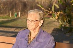 Πρόσωπο της ηλικιωμένης γυναίκας Στοκ εικόνες με δικαίωμα ελεύθερης χρήσης