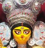 Πρόσωπο της δημιουργικής τέχνης ειδώλων Durga Στοκ Φωτογραφία