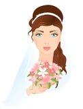 Πρόσωπο της νύφης απεικόνιση αποθεμάτων