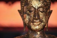 Πρόσωπο του αγάλματος Βούδας στοκ φωτογραφίες