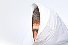 Πρόσωπο του ατόμου που καλύπτεται μερικώς Στοκ Εικόνα
