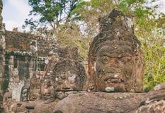 Πρόσωπο του γίγαντα πετρών, Angkor Thom, Καμπότζη Στοκ Εικόνα