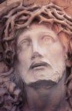 Πρόσωπο του Ιησούς Χριστού (άγαλμα, ορισμένος τρύγος) Στοκ Φωτογραφία