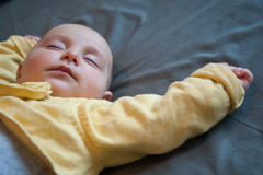 Πρόσωπο του ύπνου μωρών Στοκ φωτογραφία με δικαίωμα ελεύθερης χρήσης