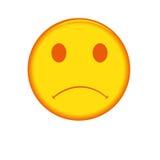 πρόσωπο λυπημένο διανυσματική απεικόνιση