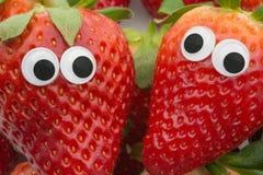 Πρόσωπο φραουλών στοκ εικόνες