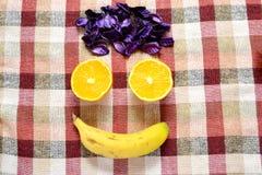 Πρόσωπο φρούτων Στοκ εικόνες με δικαίωμα ελεύθερης χρήσης