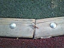 Πρόσωπο φύσης ως ξύλο με τα μάτια στο έδαφος Στοκ Φωτογραφίες