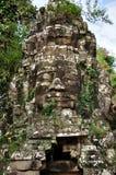 Πρόσωπο χαμόγελου σε Angkor Wat Στοκ φωτογραφία με δικαίωμα ελεύθερης χρήσης