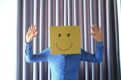 Πρόσωπο χαμόγελου στο γραφείο Στοκ εικόνα με δικαίωμα ελεύθερης χρήσης
