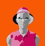 Πρόσωπο 30 γυναικών απεικόνιση αποθεμάτων