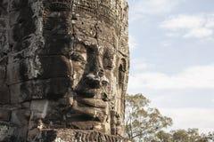 Πρόσωπο Angkor Thom Bayon Στοκ Φωτογραφίες