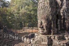 Πρόσωπο Angkor Thom Bayon Στοκ φωτογραφία με δικαίωμα ελεύθερης χρήσης