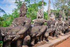 Πρόσωπο Angkor Wat/Angkor Thom Καμπότζη Στοκ Φωτογραφίες