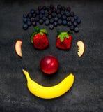 Πρόσωπο Smiley φρούτων Στοκ Εικόνες