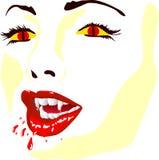 πρόσωπο vamp Στοκ Εικόνες